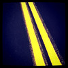 Yellow strip road. #btv #abstract #yellow #lines