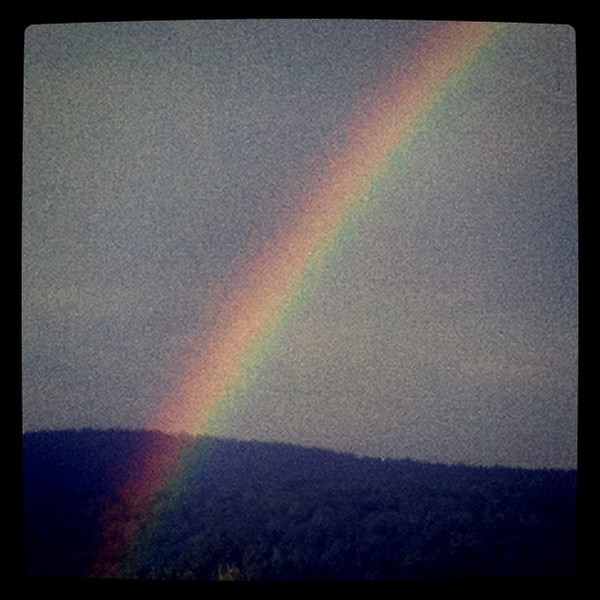 Today was a #rainbow day. #scenery #sky #colors #btv #vt