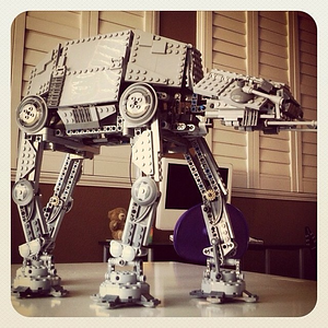 Aiden built this #starwars #atat a couple of years ago.