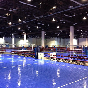 The courts the night before the Far Western Qualifier gets under way. #volleyball #fwn13 #ncva