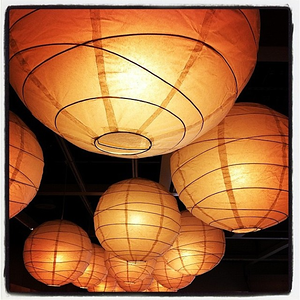 Paper #lanterns are believed to bring good chi. #paperlantern #ikea #round