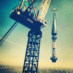 Raising of the #spire on #wtc one. #nyc #worldtradecenter #neverforget #911