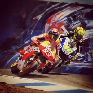 "#marquez pulling a ""Rossi"" on #rossi"