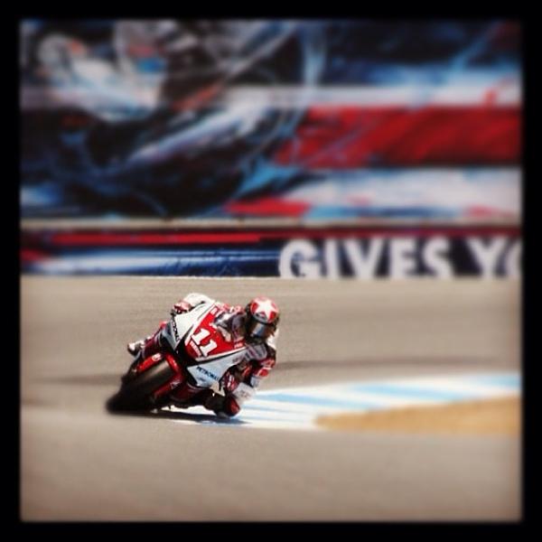 Ben #spies running #lagunaseca at the #usgp. #yamaha #motogp #motorcycle #racing