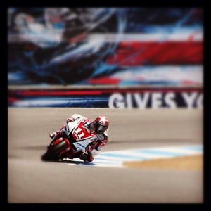 Ben #spies running #lagunaseca at the #usgp. #yamaha #motogp #motorcycle #racing