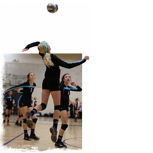 @v0lleygurl going up for a hit. #volleyball #cutout #thebartlettkids