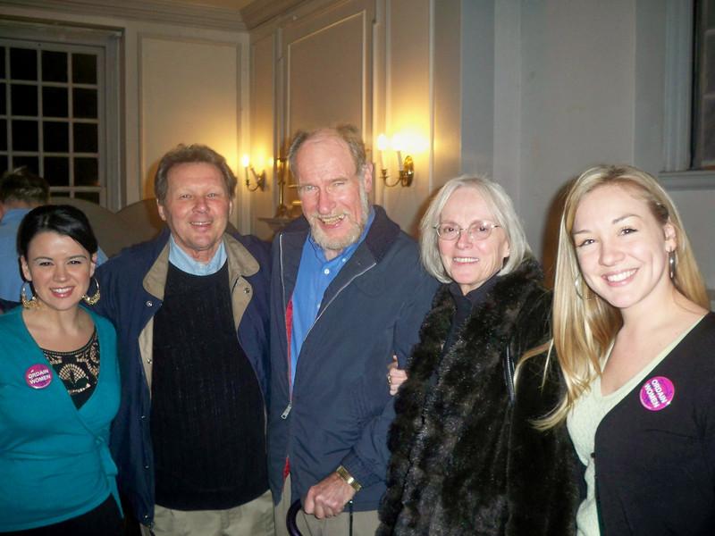From left to right: Erin Saiz Hanna, Roy Bourgeois, Bill Callahan, Dolly Pomerleau and Aisha Taylor