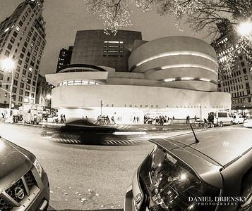 'The Guggenheim at Night' New York City, Oct 2013 Photo © Daniel Driensky 2013