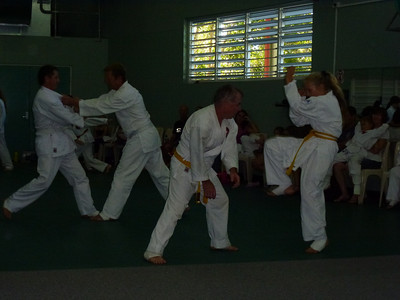 Self Defence Assessment - Paul & Melita (Front) Simon & Jo (Foreground)