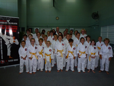 Succesful Combat Karate Graded Students!