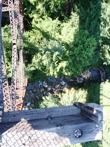 Long way down from the trestle to the creek.