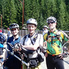 Miles, JC, and Jeff, enjoying a break on the high trestle.