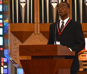 Leading the offertory hymn