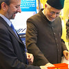 The Imam of the London Fazl Mosque, Ataul Mujeeb Rashid Sahib, makes a draw to reveal the winner of one of the 6 Kindles
