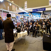 The Imam of the London Fazl Mosque, Ataul Mujeeb Rashid Sahib, officially launches the  book Toofah Qaairiyyah - A Gift to the Queen at the London Book Fair.