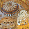 the stunningly beautiful roof of the blue mosque in Istanbul, Turkey