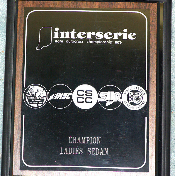 This is a sample of the 1979 awards for class winners.  Note the clubs involved, Indy Region SCCA, Indy Motor Sports Club, Columbus Sports Car Club, Southern Indiana SCCA, and the Sports Car Club of Central Indiana.