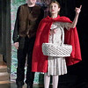 Mark Maynard | for The Herald Bulletin<br /> Red Riding Hood (Lilly Thomas) encounters the Wolf (Charlie Dubree) in the woods on her way to Granny's house.