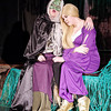 "Mark Maynard | for The Herald Bulletin<br /> The Witch (Christina Bambrough) comforts her daughter, Rapunzel (Sophi Lozinak), in the musical ""Into the Woods."""