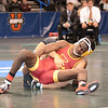 2014 Division I National Championships <br /> 125 - 7th Place Match - Darian Cruz (Lehigh) 28-9 won in tie breaker - 2 over Earl Hall (Iowa St.) 21-15 (TB-2 2-1)
