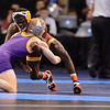 2014 Division I National Championships <br /> 125 - Quarterfinal - Dylan Peters (UNI) 34-7 won in sudden victory - 1 over Earl Hall (Iowa St.) 21-15 (SV-1 4-2)