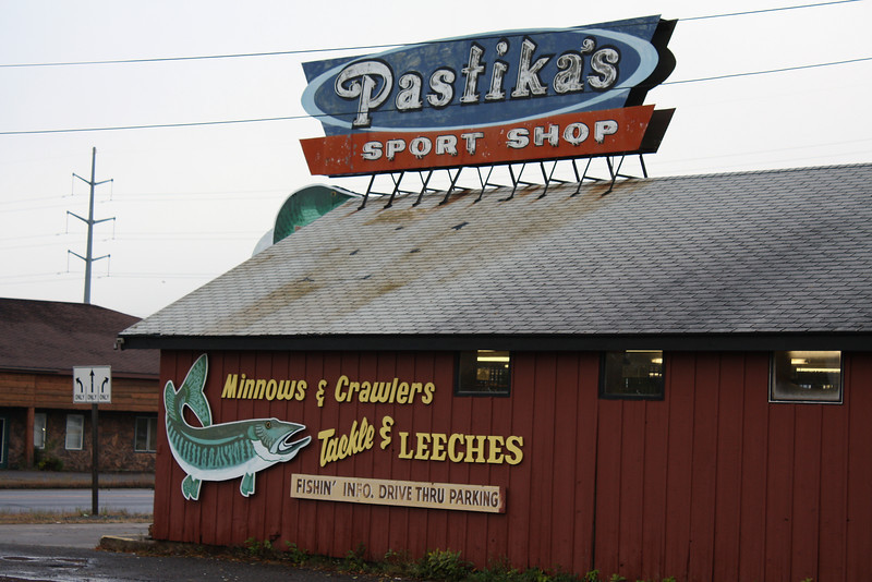 One of many sport shops in Hayward, WI.
