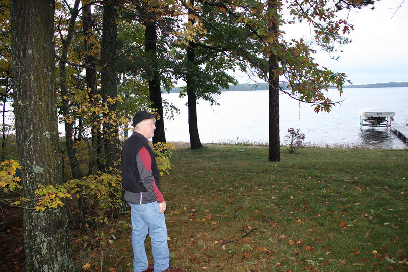 TJ surveying the property on Lac Courtes Oreilles