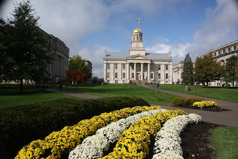 The old state capitol in Iowa CIty, IA. The limestone was quarried from the nearby Iowa River. Built in 1842.