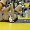 #1 Iowa 28 vs #15 Iowa State 8<br /> 165 — Michael Moreno (ISU) dec. Nick Moore, 6-3