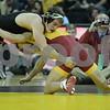 #1 Iowa 28 vs #15 Iowa State 8<br /> 149 — Brandon Sorensen (I) dec. Gabe Moreno, 7-6