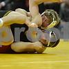 #1 Iowa 28 vs #15 Iowa State 8<br /> 157 — Michael Kelly (I) dec. Luke Goettl, 11-6