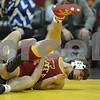 #1 Iowa 28 vs #15 Iowa State 8<br /> 141 — Josh Dziewa (I) dec. Dante Rodriguez, 9-2
