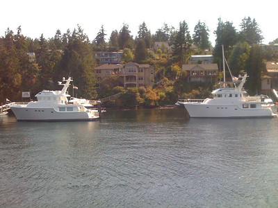 Nordhavn 55's Gray Perl (l) and Tenacious (r)
