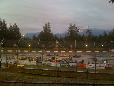 At the races in Agassiz