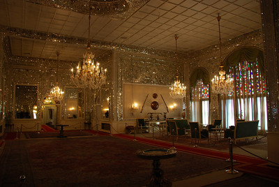 Sahebqaranieh which is a Qajar era palace from the late 1700s. The palace served as the Shah's office during his reign and contains many priceless paintings. There is a room directly off the main audience room of the palace which is fully set up as a dental surgery.