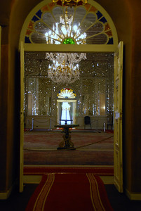 All four walls of this coronation room were covered in mirrors.
