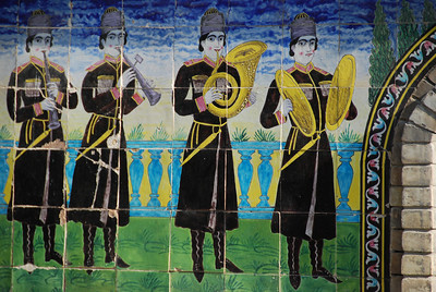 Frieze on the wall at Golestan Palace.