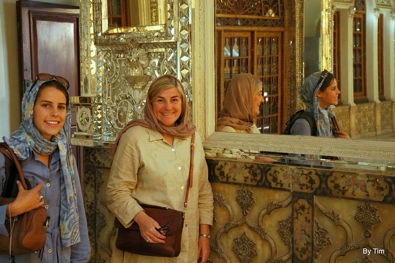 eugenie and jacquie. shahs palace, Tehran
