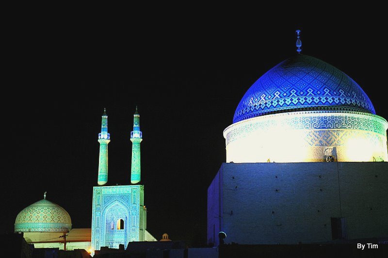 Jameh Mosque (Yazd) at night