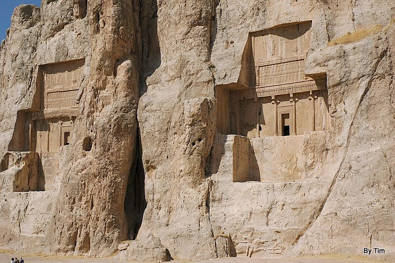Naqsh-e Rostam (Note tourists bottem left)