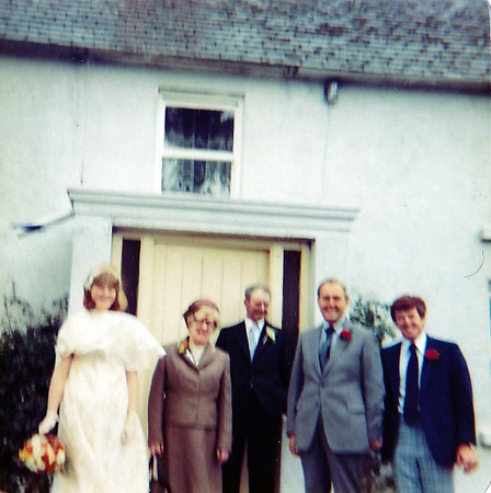 Outside the house before Elizabeth's Wedding