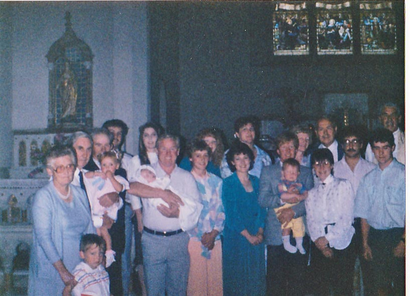 Family at Anne's christening