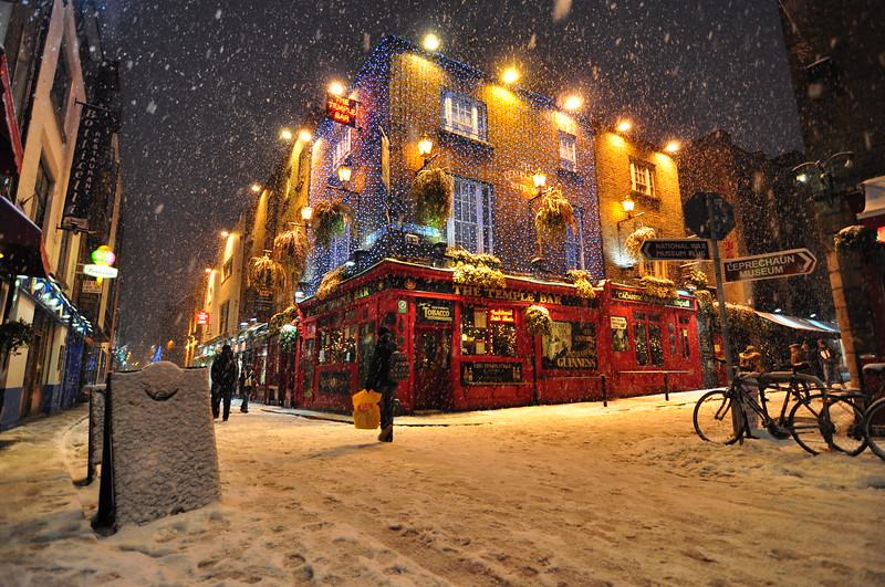 Temple Bar blizzard