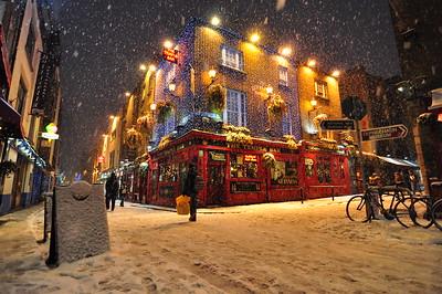 Temple Bar blizzard