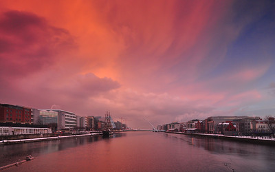 Sunset on the Liffey II
