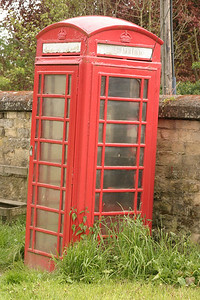 Old Red Telephone Booth Edinborough, Scotland