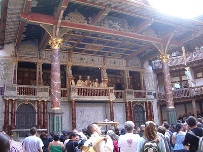 Globe Theatre audience gathers