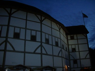 The Globe at night