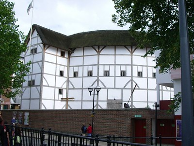 Day 2 in London: My first view of Shakespeare's Globe Theatre!