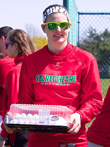 Happy 18th Birthday Julia Cardon at the Sacred Heart Academy Softball Invite at the Mt. Pleasant High School field Saturday, May 9, 2014.